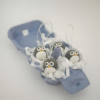 Penguin Christmas Tree Ornaments (Box of 4)