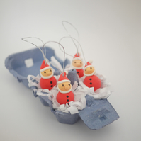 Santa Claus Christmas Tree Ornaments (Box of 4)