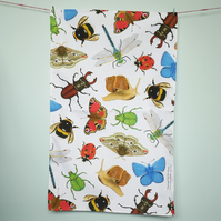 British Insects Tea Towel