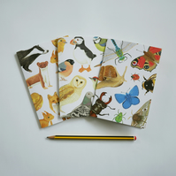 Set of Three British Wildlife Notebooks