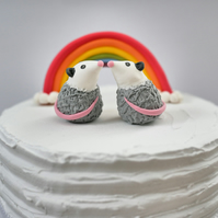 Opossum Wedding Cake Topper