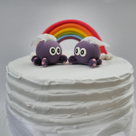 Bride and Bride Octopus Wedding Cake Topper