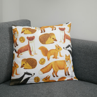 British Mammals Cushion Cover