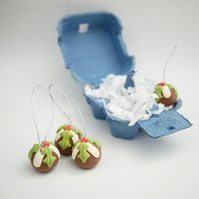 Christmas Pudding Tree Ornaments (Box of 4)