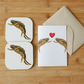 Great Crested Newt Card and Coaster Set