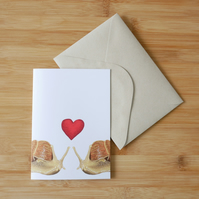 Valentine's Day Snails Card