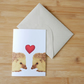 Valentine's Day Hedgehogs Card