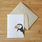 Illustrated Puffin Card