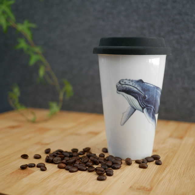 Ceramic Whale Travel Mug