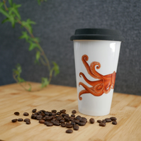 Ceramic Octopus Travel Mug