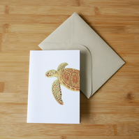 Illustrated Turtle Card