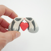 Valentine's Day Badgers Heart Ornament