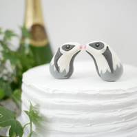 Badger Wedding Cake Topper