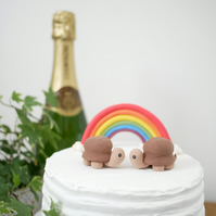 Tortoise Wedding Cake Topper