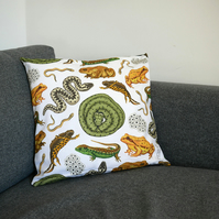 British Reptiles and Amphibians Cushion Cover