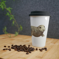 Seal Travel Mug - Illustrated Homeware Inspired by Wildlife