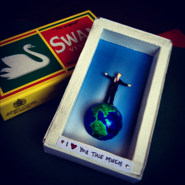"""I Love You This Much"" World in a Match Box Love Token"
