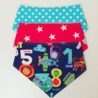 Set Of Three Dribble Bibs