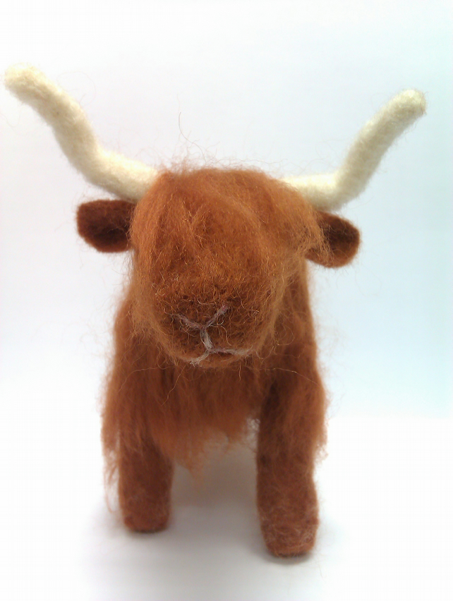 Needle Felted Highland Cow