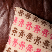 Lambswool Robot Cushion