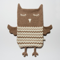 Beryl the Owl Lambswool Hot Water Bottle Cover