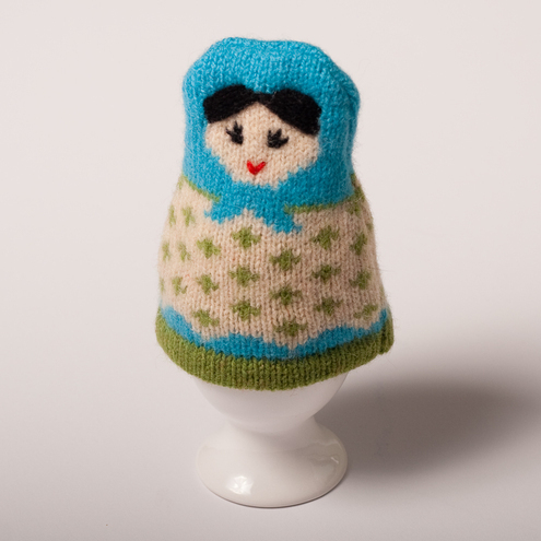 Lambswool Russian Doll Egg Cosy