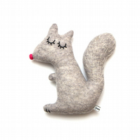 Doris the Squirrel Lambswool Plush - Made to order