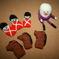 Humpty Dumpty, Horses and King's Men finger puppet & soft toy set