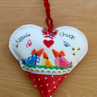 "Hanging heart ""New chick"""
