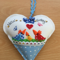"Hanging heart ""new baby"""