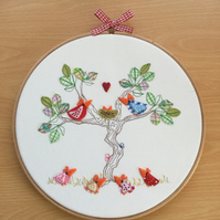 "Embroidered Hoop Art ""New Arrivals"""