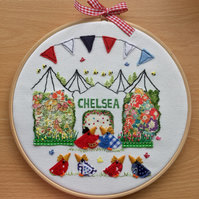 "Embroidered Hoop Art ""Chelsea Chicks"""