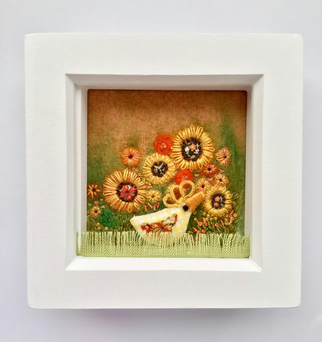 "Shadow box frame square ""Mavis"""