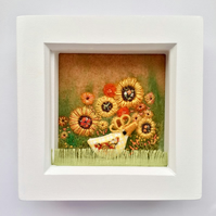 "Yellow chicken box frame.""Mavis"""
