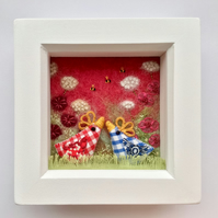 "Shadow box frame square  ""Betty & Bert"""