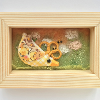 Mini Shadow box frame ' Parsley the chick'
