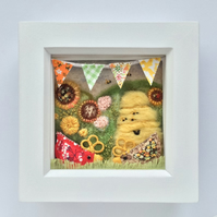 Shadow box frame ' George and Mildred'