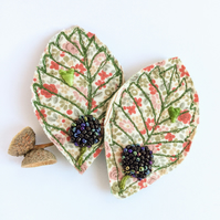 Bramble leaf brooch.