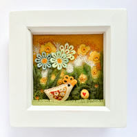 "Shadow box frame square  ""Daphne"""