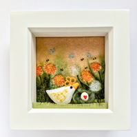 "Shadow box frame square  ""Ellie chick"""