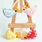 4 Tiny hanging Chickens.  Free UK postage.
