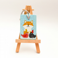 "Hand painted ceramic tree decoration ""Mr Fox & friends"""