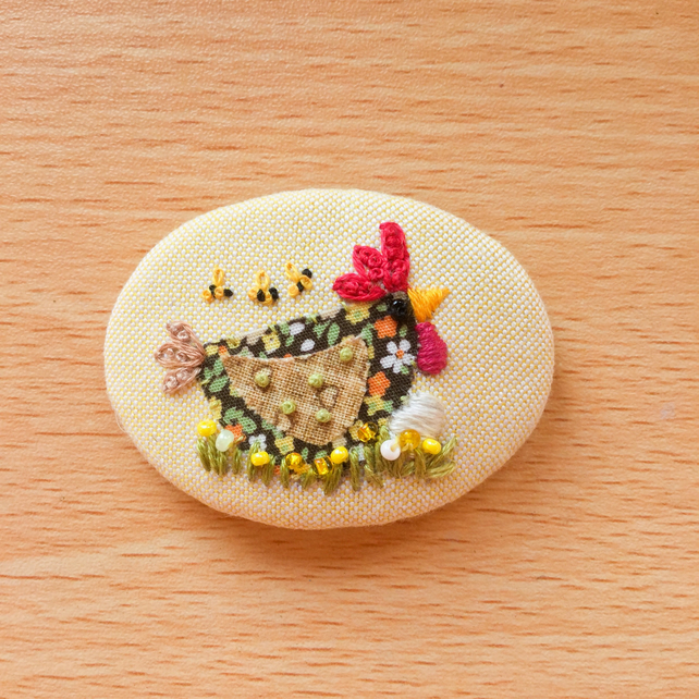 "Brooch ""Margo"" Chicken."