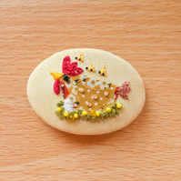 "Brooch ""Milly"" Chicken."