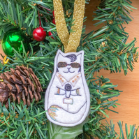 Hanging decoration Elvis cat.