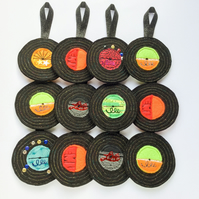 Hanging decoration Vinyl Records.