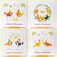 Pack of 4 Merry Chickmas cards.