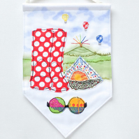 Fabric pennant banner, Festival.