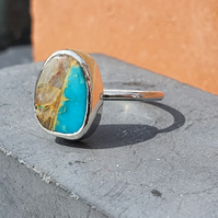 Royston turquoise sterling silver ring size Q