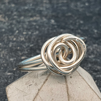 sterling silver swirly wire ring